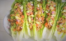 Taco salátalevélben   21 nap alatt Celery, Cabbage, Tacos, 21st, Vegetables, Food, Cilantro, Essen, Cabbages
