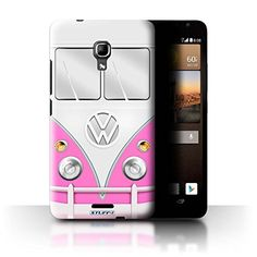 STUFF4 Phone Case  Cover for Huawei Ascend Mate2 4G  Pink Design  VW Camper Van Collection ** More info could be found at the image url.