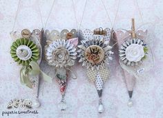 Sizzix Die Cutting Inspiration and Tips: Shabby/Vintage Cones