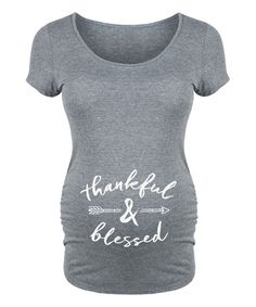 Another great find on #zulily! Athletic Heather 'Thankful