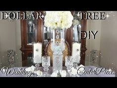 DIY DOLLAR TREE GLAMOROUS WEDDING CENTERPIECES WITH TOTALLY DAZZLED BLING GEMS | PETALISBLESS - YouTube