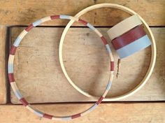 washi tape embroidery hoop from splendored thing via make: craft