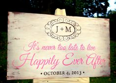 One of a group of signs I just finished for a beach wedding with a vintage, rustic theme.