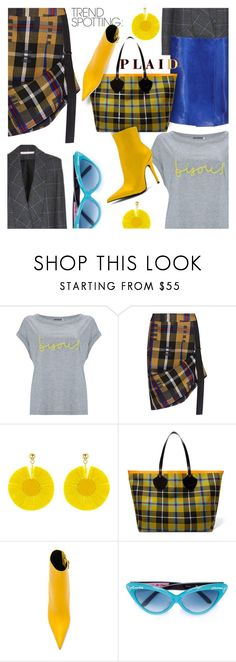 """""""NYFW Trend Spotting: Plaid"""" by stacey-lynne ❤ liked on Polyvore featuring Mint Velvet, Public School, Victoria Beckham, Oscar de la Renta, Burberry, Jeffrey Campbell and Olympia Le-Tan"""