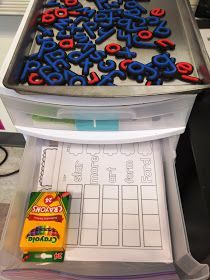 Guided reading goods and word work ideas for first grade! I like how the word work is organized in the drawers