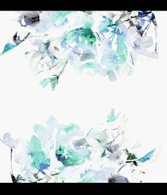 Blue Vintage Floral Removable Wallpaper Watercolor by loveCOLORAY