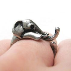 Miniature Elephant Wrap Ring in Silver Sizes 4 to 10 Available sold by DOTOLY Animal Jewelry. Shop more products from DOTOLY Animal Jewelry on Storenvy, the home of independent small businesses all over the world. Bling Bling, Jewelry Box, Jewelry Rings, Jewlery, Jewelry Ideas, Girls Jewelry, Look Fashion, Womens Fashion, Cheap Fashion