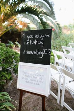have your guests hashtag pictures from your wedding!