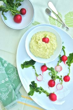 Fava Bean and Goat Cheese Dip with Radishes