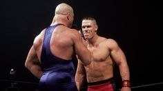 John Cena debuts against Kurt Angle: 2002
