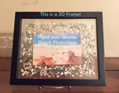 New on my Etsy! $25.00 Put your own picture in this 3D Shadow Box Picture Frame Luxedesignsbylucy
