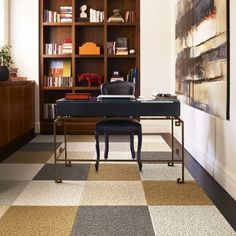 Would love to create a pattern like this in our basement with carpet tiles.