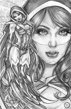 Mantra commission sample Malibu Comics - Adriana Melo, in Chiaroscuro Studios's Commissions by Adriana Melo - List now OPEN Comic Art Gallery Room Comic Book Characters, Comic Books Art, Book Art, Illustration Sketches, Art Sketches, Comic Kunst, Black White Art, Fun Comics, Scarlet Witch