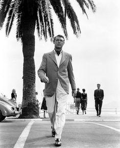 """Cary Grant en """"Atrapa a un Ladrón"""" (To Catch a Thief), 1955"""