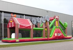 inflatable farm obstacle run 17m