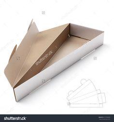 Triangular Box with Die Cut Template