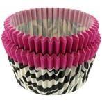 hot pink zebra cupcake liners