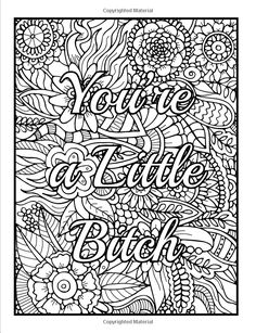 Bad Word Coloring Pages : coloring, pages, Swear, Words, Coloring, Pages, Ideas, Coloring,, Pages,