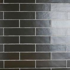 Pinch Black Wall Tiles, Black Walls, Fireplace Tile Surround, Fireplace Surrounds, Stone Look Tile, Stone Tiles, Ceramic Wall Tiles, Tile Saw, Tile Projects