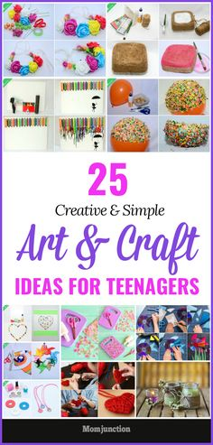 Here are the super-quick arts and crafts projects to help the teens beat the boredom. Get all those colorful and creative art ideas and activities.