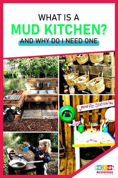 WHAT IS A MUD KITCHEN? Baby activities 1 year, baby activities 9-12, baby activity board, 6 month baby activities, 0 3 months baby activities, baby activities 3-6, baby activities 0-3 newborns, 3month old baby activities, diy baby activities, outdoor baby activities, Summer baby activities, stimulating baby activities. #babyactivities6-12months #babyactivityboard #6monthbabyactivities #babyactivities3-6 #diybabyactivities #outdoorbabyactivities 3 Months Baby Activities, Activities For 2 Year Olds, Activities For Adults, Infant Activities, Kindergarten Activities, Outdoor Activities, Activities For Kids, Baby Activity Board, Toddler Arts And Crafts