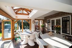 Julius Bahn specialises in building the finest oak-framed orangeries, perfect for both traditional and contemporary, kitchen and home extensions. Garden Room Extensions, House Extensions, Rear Extension, Extension Ideas, Indoor Outdoor Living, Outdoor Decor, Folding Doors, Design Consultant, Sunroom