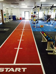 ESP Fitness Running Track & Cross Frame at Headington School, Oxford - ESP designed and fitted the UK's leading functional training school facility at Headington School, Oxford. The 300m2 facility boasts a fully flush fit flooring solution including 4 ESP Power Racks, Lifting Platforms, a custom-built ESP CrossFrame, a 20m high performance sprint track and a 40m2 high impact functional zone with bespoke floor markings for agility, footwork and functional exercises