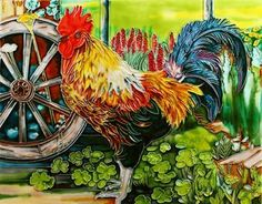 """King of the Farm - Rooster - Decorative Ceramic Art Tile - 11""""x14"""" by entiles.com. $51.99. Hang on the wall using provided hooks / (use or)Tile can also be used as a decorative hot plate. Backing is removable enabling the tile to be installed as a standard tile. LICENSED WORLDWIDE image approved by artist. Hand crafted art tile, then kiln-fired at high temperature?brilliantly colored, with complex glazes and unique textures. We make every effort to process your order wit..."""
