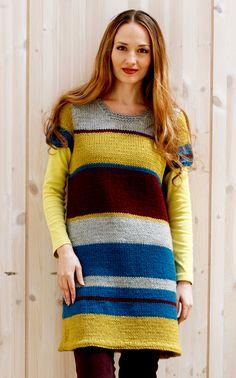 lion brand fishermans wool with graded change from dark brown to white. Knit Skirt, Knit Dress, Crochet Woman, Knit Crochet, Vest Pattern, Free Pattern, Knitting Yarn, Knitting Sweaters, Knitted Blankets