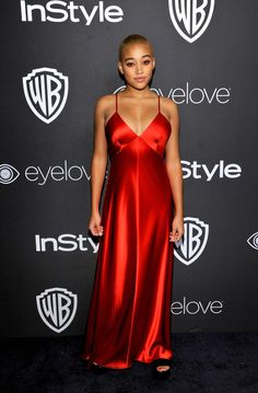 Amandla Stenberg Photos Photos - The 2017 InStyle and Warner Bros. 73rd Annual Golden Globe Awards Post-Party - Red Carpet - Zimbio