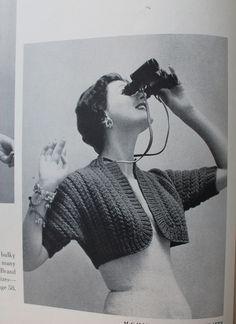 1950s free vintage knitting pattern easy bolero