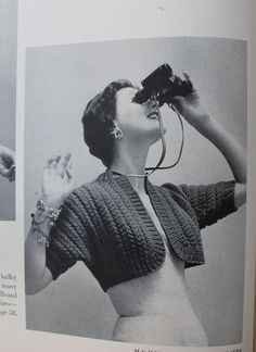 1950s free vintage knitting pattern easy bolero