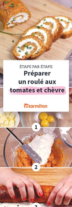 Roulé apéritif tomate chèvre frais - Expolore the best and the special ideas about French recipes Chicken Appetizers, Bacon Appetizers, Appetizer Recipes, Chicken Recipes, Healthy Fried Chicken, Salty Foods, Healthy Menu, Buffet, Fodmap Recipes