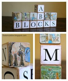 DIY:: So Sweet Alphabet Blocks How to by That's My Letter