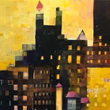 Αποτέλεσμα εικόνας για contemporary painting cityscape