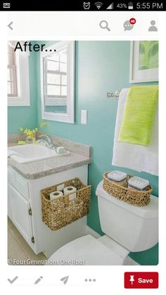 Mounted basket toliet paper holder instead of the traditional kind