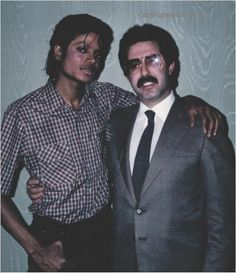 Michael Jackson, not sure who the guy is, i'm assuming a fan lol.