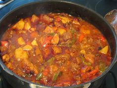 Slava& homemade gypsy goulash from the oven - all in one «cooking & bac . - Slava& homemade gypsy goulash from the oven – all in one «cooking & baking made easy with - Meat Recipes, Cooking Recipes, Healthy Recipes, Austrian Recipes, Vegetable Dishes, Soul Food, Food Videos, Food Inspiration, Food And Drink