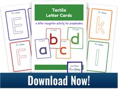 Tactile Letter Cards - a letter recognition activity from All About Reading
