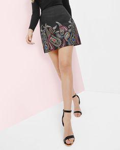 Ted Baker Treasured Trinkets A-line skirt Black