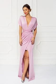 Extravagantné spoločenské šaty - v prednej časti vysoký rozparok, vrchná časť nositeľná na rôzne spôsoby, uviažte si ich podľa vašich predstáv a zažiarte na akejkoľvek spoločenskej udalosti.
