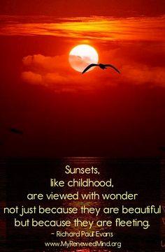 Sunsets quote via www.MyRenewedMind.org