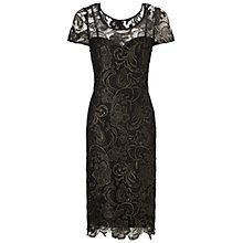 Buy Gina Bacconi Guipure Lace Dress, Black/Gold Online at johnlewis.com http://www.johnlewis.com/gina-bacconi-guipure-lace-dress-black-gold/p1695815