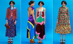 Best of Resort 2013: Marc Jacobs  From multicolored floral dresses over giant floral pants to probably three-foot wide circle skirts that look more like quilts than dresses, this insanely fun collection is perfect for clowning around in.