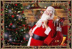 Animated Gif by Lady Moon Christmas Scenes, Christmas And New Year, Christmas Fun, Christmas Ornaments, Advent, Gif Photo, Christmas Pictures, Animated Gif, Santa