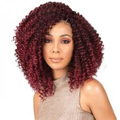 Curly Crochet Braids with Burgundy Highlights - 20 Braids for Curly Hair That Will Change Your Look - The Trending Hairstyle Box Braids Hairstyles, Half Braided Hairstyles, Cool Hairstyles, Hairdos, Hairstyles 2018, Updos, Short Hair Updo, Curly Hair Braids, Fishtail Braids