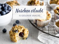 Snacking without a guilty conscience: 15 healthy snacks in between Healthy Protein, Healthy Snacks, Healthy Recipes, Snacks Für Party, Breakfast Dessert, Food Trends, No Bake Cake, Snack Recipes, Clean Eating