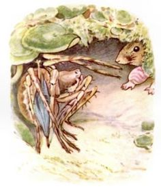 Beatrix Potter from 'The Tale of Mrs Tittlemouse' pub. Frederick Warne 1910