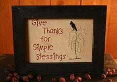 Stitchery - Give Thanks