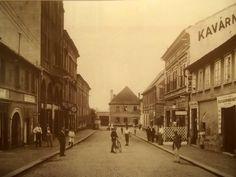 """Kovářská ulice,kavárna """"u Poláčků"""",později Amerikán a ještě později Volha..r.1930"""